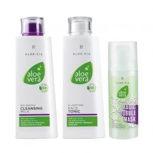 Комплект за Почистване и Разкрасяване на Лицето Aloe Vera
