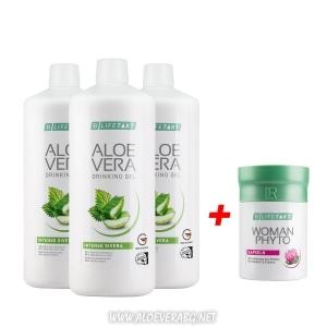 LR Комплект за Здраве на Сърцето Алое Вера с Коприва 3 бутилки + Woman Phytoactiv за Климактериума