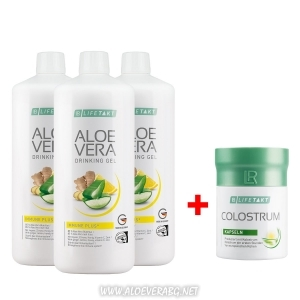 Комплект за Имунната система Aloe Vera Immune Plus Троен комплект + Коластра на капсули