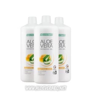 Aloe Vera Гел за пиене с мед за стомаха, Троен комплект