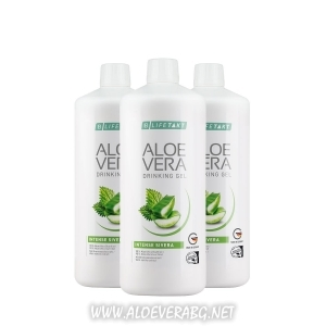 Aloe Vera Гел за пиене с коприва при отпадналост, умора, високо кръвно и холестерол, Троен комплект