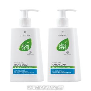 LR Нежно Почистващ и Хидратиращ Крем-Сапун за Ръце Aloe Vera | Двоен комплект