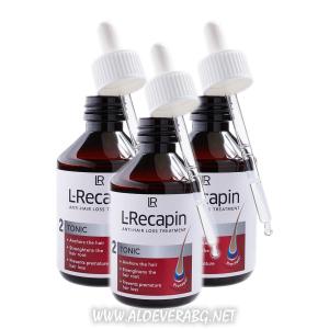 LR L-Recapin Тоник за Коса при Проблеми с Косопада | Троен комплект